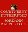 COURTNEEYY RUTHERFORD loves JORDANN RALPHS LOTS  - Personalised Poster A4 size