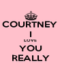 COURTNEY  I LOVE  YOU REALLY - Personalised Poster A4 size