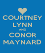COURTNEY LYNN AND CONOR MAYNARD - Personalised Poster A4 size