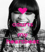courts is my heartbeat - Personalised Poster A4 size