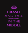 CRASH  AND FALL SOMEWHERE IN THE MIDDLE - Personalised Poster A4 size