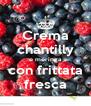 Crema chantilly e meringa con frittata fresca - Personalised Poster A4 size