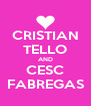 CRISTIAN TELLO AND CESC FABREGAS - Personalised Poster A4 size