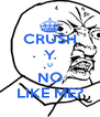 CRUSH Y U NO LIKE ME? - Personalised Poster A4 size