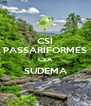 CSI PASSARIFORMES CEA SUDEMA  - Personalised Poster A4 size