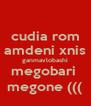 cudia rom amdeni xnis ganmavlobashi megobari  megone ((( - Personalised Poster A4 size
