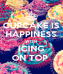CUPCAKE IS HAPPINESS WITH ICING ON TOP  - Personalised Poster A4 size