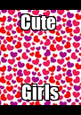 Cute  Girls - Personalised Poster A4 size