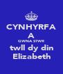CYNHYRFA A GWNA STWR twll dy din Elizabeth - Personalised Poster A4 size