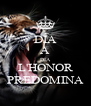 DÍA A DÍA L'HONOR PREDOMINA - Personalised Poster A4 size
