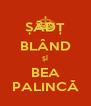 ȘĂDȚ BLÂND ȘÎ BEA PALINCĂ - Personalised Poster A4 size
