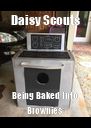 Daisy Scouts Being Baked Into Brownies - Personalised Poster A4 size