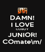 DAMN! I LOVE COBOY JUNIOR! COmate\m/ - Personalised Poster A4 size