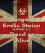 Danger!  Emilia Stoian  WANTED!!!! Dead or Alive - Personalised Poster A4 size