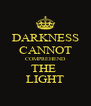 DARKNESS CANNOT COMPREHEND THE  LIGHT - Personalised Poster A4 size