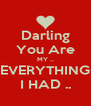 Darling You Are MY .. EVERYTHING I HAD .. - Personalised Poster A4 size