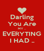 Darling You Are MY .. EVERYTING I HAD .. - Personalised Poster A4 size