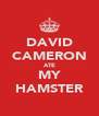 DAVID CAMERON ATE MY HAMSTER - Personalised Poster A4 size
