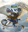 DAVID FO' DA WIN :) - Personalised Poster A4 size