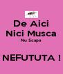 De Aici Nici Musca Nu Scapa   NEFUTUTA ! - Personalised Poster A4 size