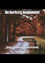 De herfst is begonnen! Daag jezelf uit met Bootcamp bij Physique! - Personalised Poster A4 size