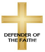 DEFENDER OF THE FAITH! - Personalised Poster A4 size