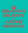 DELICIOUS DELIGHTS BY JUSTINE GRIFFITHS - Personalised Poster A4 size
