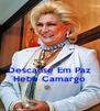 Descanse Em Paz Hebe Camargo - Personalised Poster A4 size