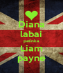 Diana labai patinka Liam payne - Personalised Poster A4 size