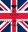 DID YOU NO? WILLIAMSONS RULE - Personalised Poster A4 size