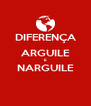 DIFERENÇA ARGUILE E NARGUILE  - Personalised Poster A4 size