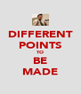 DIFFERENT POINTS TO BE MADE - Personalised Poster A4 size