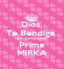 Dios  Te Bendiga  Feliz Cumpleaños  Prima MIRKA - Personalised Poster A4 size