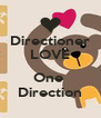 Directioner LOVE  One  Direction - Personalised Poster A4 size