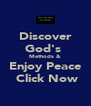 Discover God's  Methods & Enjoy Peace  Click Now - Personalised Poster A4 size