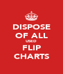 DISPOSE OF ALL USED FLIP CHARTS - Personalised Poster A4 size