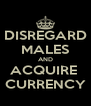 DISREGARD MALES AND ACQUIRE  CURRENCY - Personalised Poster A4 size