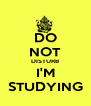 DO NOT DISTURB I'M STUDYING - Personalised Poster A4 size