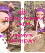 DO NOT KEEP CALM IT'S JIMMY'S BIRTHDAY - Personalised Poster A4 size