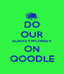 DO OUR SURVEYMONKEY ON QOODLE - Personalised Poster A4 size