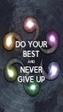 DO YOUR BEST AND NEVER GIVE UP - Personalised Poster A4 size