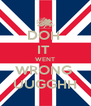 DOH  IT  WENT WRONG  UUGGHH - Personalised Poster A4 size