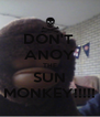 DON'T  ANOY THE SUN MONKEY!!!!! - Personalised Poster A4 size
