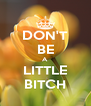 DON'T BE A LITTLE BITCH - Personalised Poster A4 size