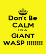 Don't Be CALM ITS A  GIANT WASP !!!!!!!! - Personalised Poster A4 size