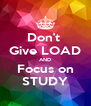 Don't  Give LOAD AND Focus on STUDY - Personalised Poster A4 size