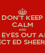 DON'T KEEP CALM AND CRY YOUR EYES OUT ABOUT HOW PERFECT ED SHEERAN IS - Personalised Poster A4 size