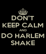 DON'T KEEP CALM AND DO HARLEM SHAKE - Personalised Poster A4 size