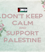 DON'T KEEP CALM AND SUPPORT PALESTINE - Personalised Poster A4 size
