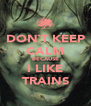 DON`T KEEP CALM BECAUSE I LIKE TRAINS - Personalised Poster A4 size